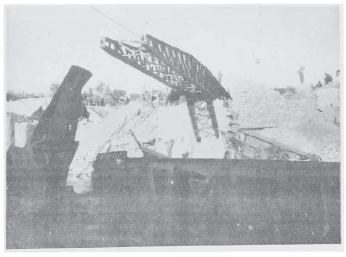 Photo 11 – Railroad bridge near Pistoia under construction by 182nd Engineers