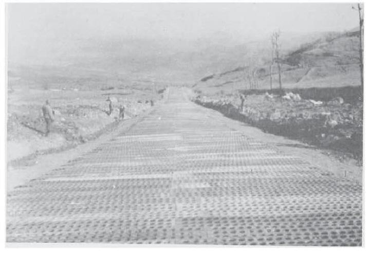 Photo 12 – Air strip built by 185th Engineers near Futa Pass