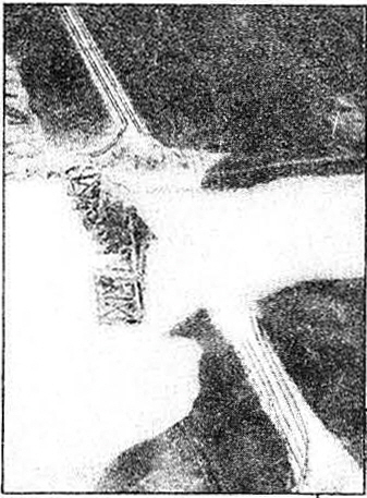 """Company """"A"""" bridge platoons started from scratch, as demonstrated in the aerial photo at top left."""