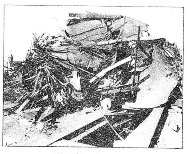 Photo Caption: Direct hit on locomotive.
